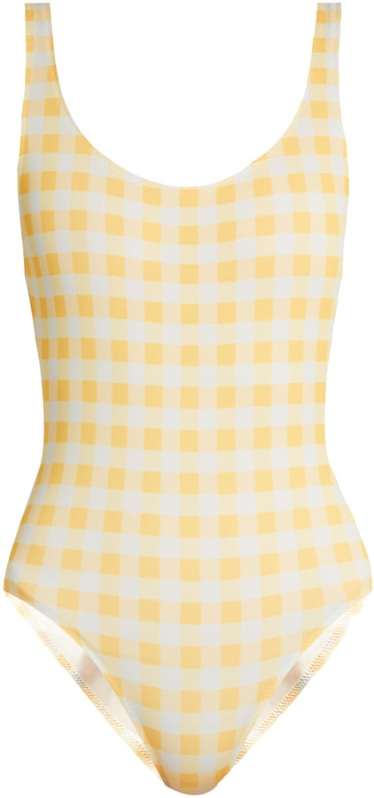 Another cheery option? This yellow Solid & Striped Anne-Marie Gingham Swimsuit ($158).