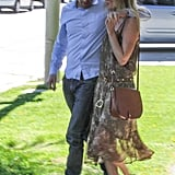 Kate Bosworth and Michael Polish held hands as they walked together in Beverly Hills.
