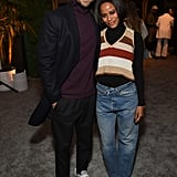 Jesse Williams and Taylour Paige at the 2020 MACRO Pre-Oscars Party