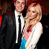 Friends Zac Efron and Ashley Tisdale smiled together at the after-party for The Lucky One premiere in LA.