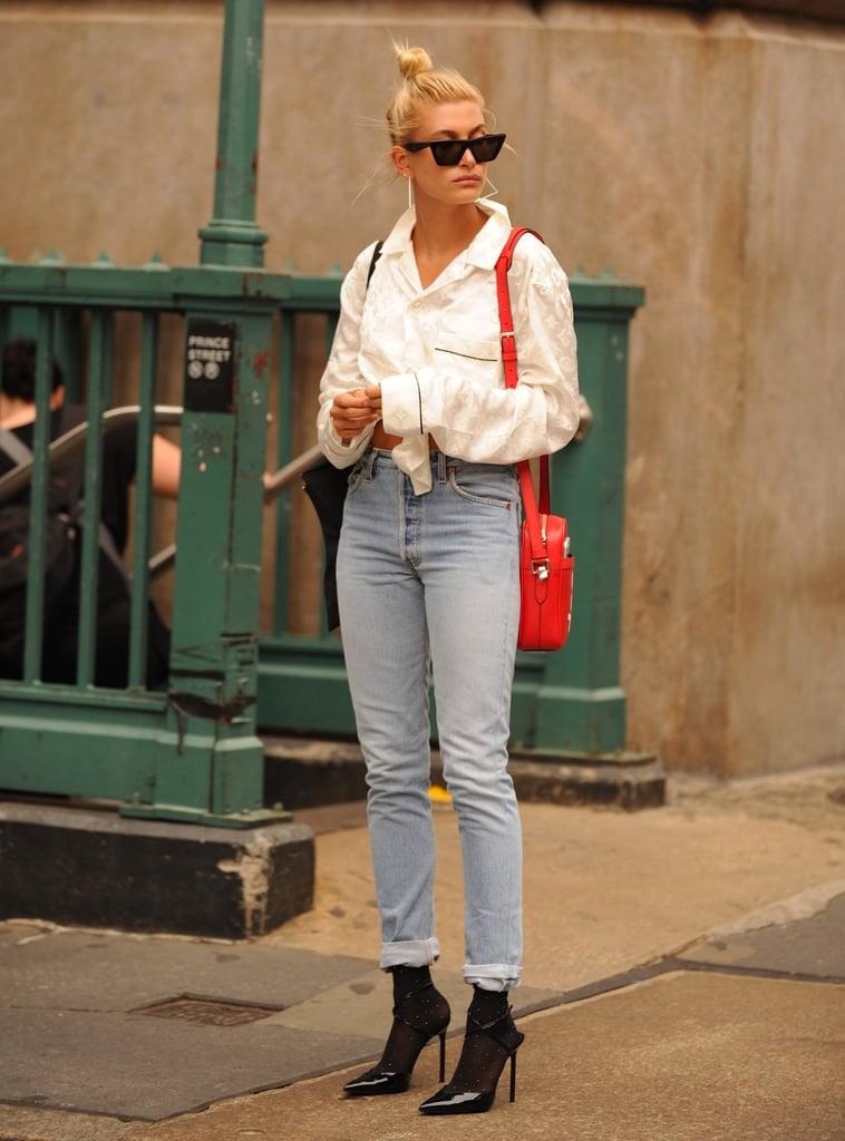 How to Wear Jeans: Hailey Baldwin