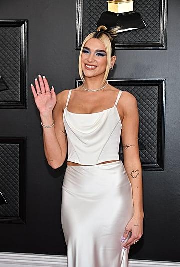 Dua Lipa's Checkered Nail Art at the Grammys 2020