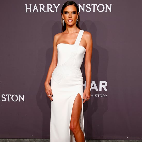 Alessandra Ambrosio's Versace Dress at amfAR New York Gala