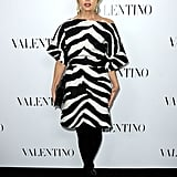 Rachel Zoe opted for a bold zebra-print frock.