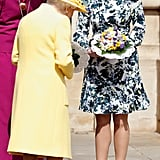 Princess Eugenie and Queen Elizabeth attended Royal Maundy service at St. George's Chapel in 2019.