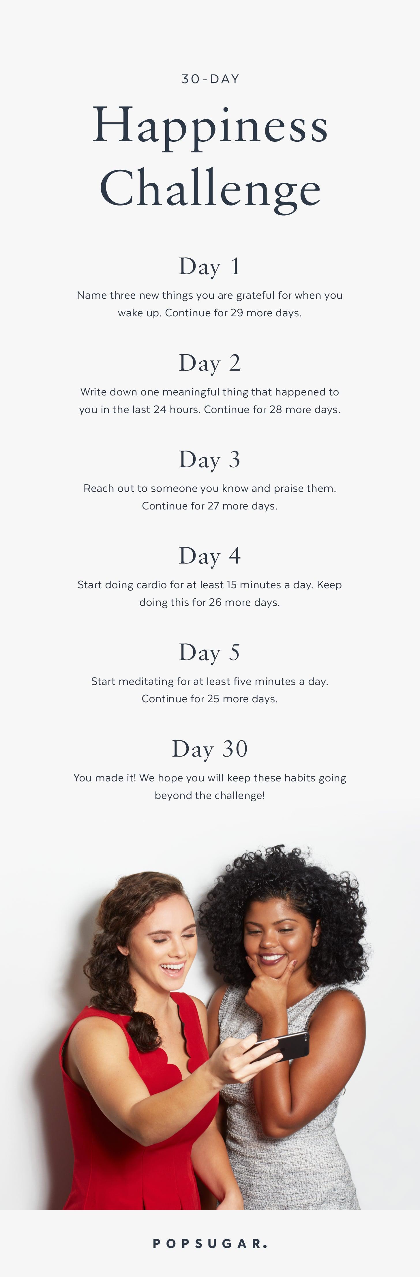 30-Day Happiness Challenge | POPSUGAR Smart Living