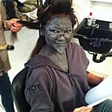 "Valerie Bertinelli got her hair and ""makeup"" done for Hot in Cleveland. Source: Wolfiesmom"