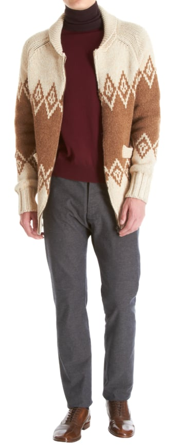 I remember a couple of years ago there was a picture on The Sartorialist of a man who wore an oversize sweater over his suit jacket. I have always wanted to re-create that look, but never found the perfect piece — until now. This Fairisle Cardigan Sweater by Maison Martin Margiela ($1,495) is purposefully oversize enough so it's perfect for layering, and its color palette and classic pattern make it easily workable in many different outfits.   — Robert Khederian, fashion editorial assistant