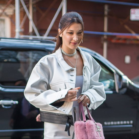 Bella Hadid Pink Chrome Hearts Purse