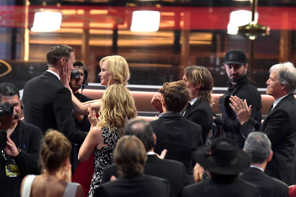 Yep, Nicole Kidman Did Just Kiss Alexander Skarsgård Smack on the Lips in Front of Keith Urban