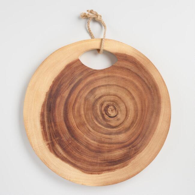 Round Raw Edge Tree Ring Cutting Board