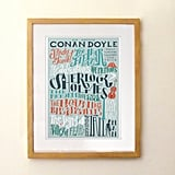 Arthur Conan Doyle Bibliography Print ($19)