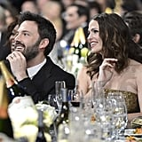 Jennifer Garner and Ben Affleck sat together during the show.