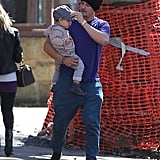 While wife Miranda was hard at work, Orlando Bloom and son Flynn took a stroll around Sydney on August 21.