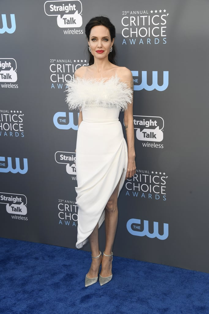 Angelina Jolie's Critics' Choice Dress Isn't What You Were Expecting In the Best Way Possible