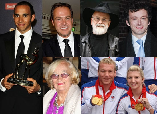 The Queen's New Year Honours List: Chris Hoy, Lewis Hamilton, Liz Smith, Michael Sheen, Peter Jones, Terry Pratchett