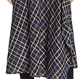 Vince Plaid Faux-Wrap Skirt