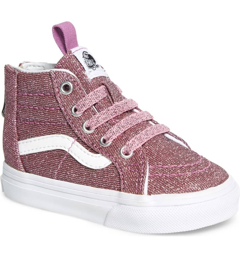 024cbb536406 Pink Glitter Vans Sneakers For Kids