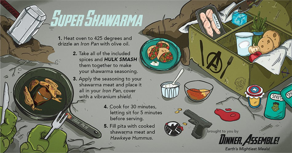"Avengers ""Super Shawarma"""