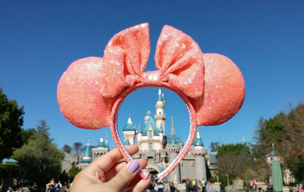 Coral Iridescent Sequined Ears ($30)