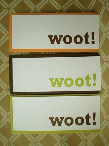 Woot Note Set: Totally Geeky or Geek Chic?