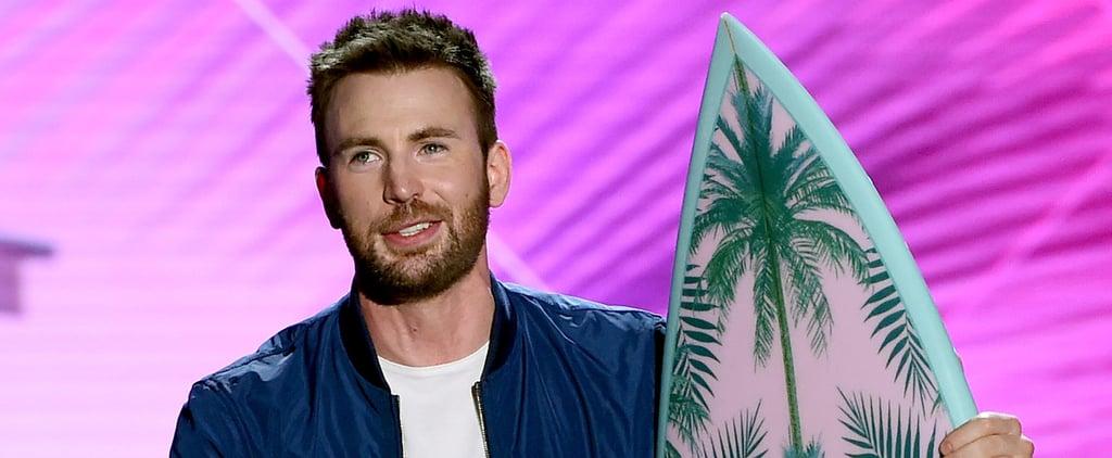 "Why Chris Evans Feels Like His Teen Choice Award Is a ""Mistake"""