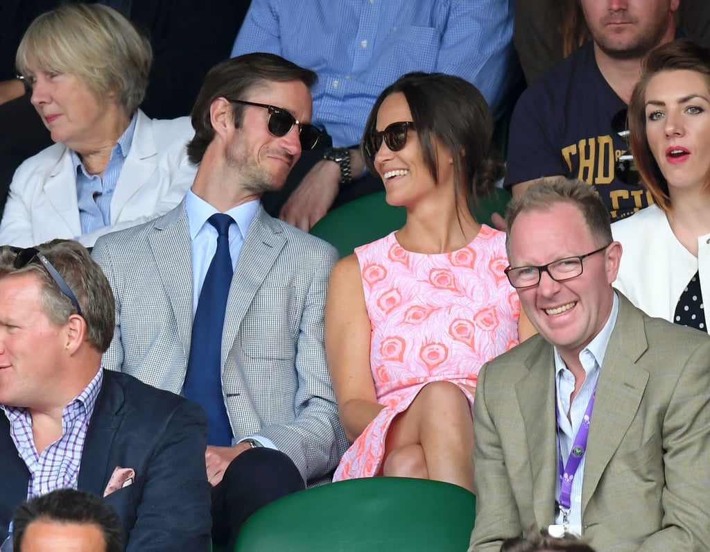 Pippa Middleton married longtime love James Matthews in May of 2017 and welcomed their first child, a baby boy, in October 2018. Even though their love story has been almost 10 years in the making, the pair has managed to keep their relationship pretty under the radar, and we've been finding ourselves wanting to know more and more about their romance. Unlike her big sister, Kate — who has shared numerous sweet moments with Prince William — Pippa has only been spotted out and about with her husband on a handful of occasions. From their family getaways to their fun-filled ski adventures, see some of their rare appearances together over the past few years.