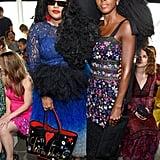 TK and Cipriana Quann at the Tadashi Shoji New York Fashion Week Show