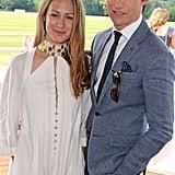Hannah Baghshawe and Eddie Redmayne