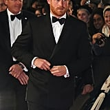October 2015: Prince Harry at the World Premiere of Spectre in London