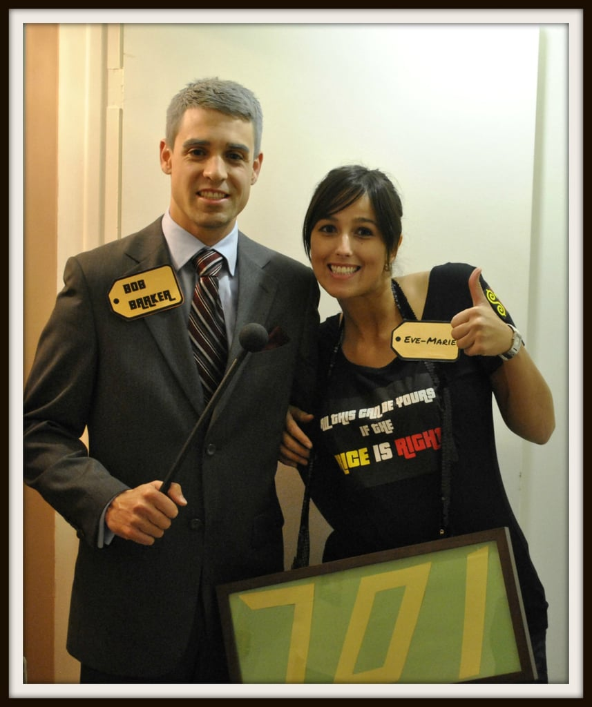 Bob Barker and a Contestant on The Price Is Right