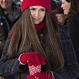 In a flashback, we get to see Elena in happier, festive times.