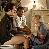 Paul Rudd, Jordan Peele, and Kerri Kenney in Wanderlust.