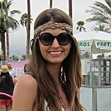 This styler's headband was made for Coachella's festivities.