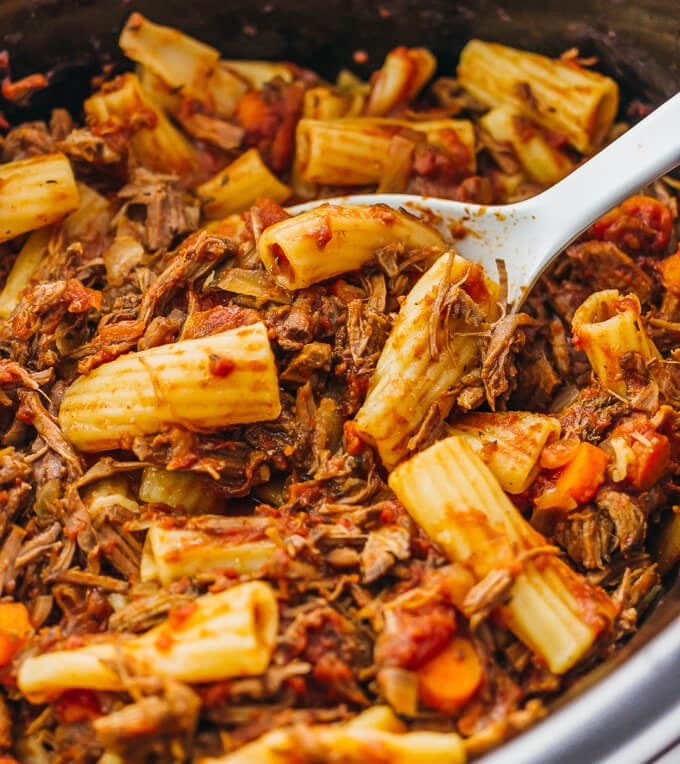 40 Fall Slow Cooker Recipes: Slow-Cooker Beef Ragu Rigatoni