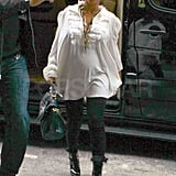 Beyoncé Knowles rocked high-heeled boots.
