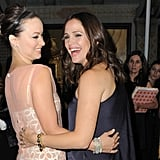 Jennifer Garner and Olivia Wilde had a case of the giggles.