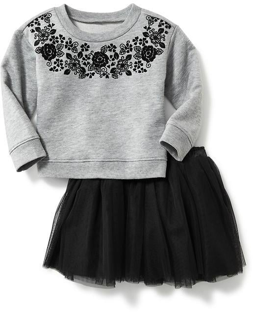 Two-Piece Jersey Top and Tutu Set