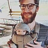 Bearded baby-wearing dad for the win.