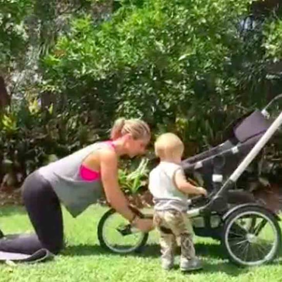 Elsa Pataky Works Out With Baby on Instagram