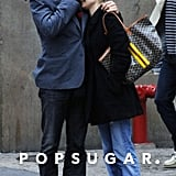 Joshua Jackson and Diane Kruger embraced during a stroll in NYC in November 2006.