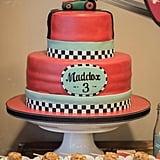 A Classic Race Car Cake