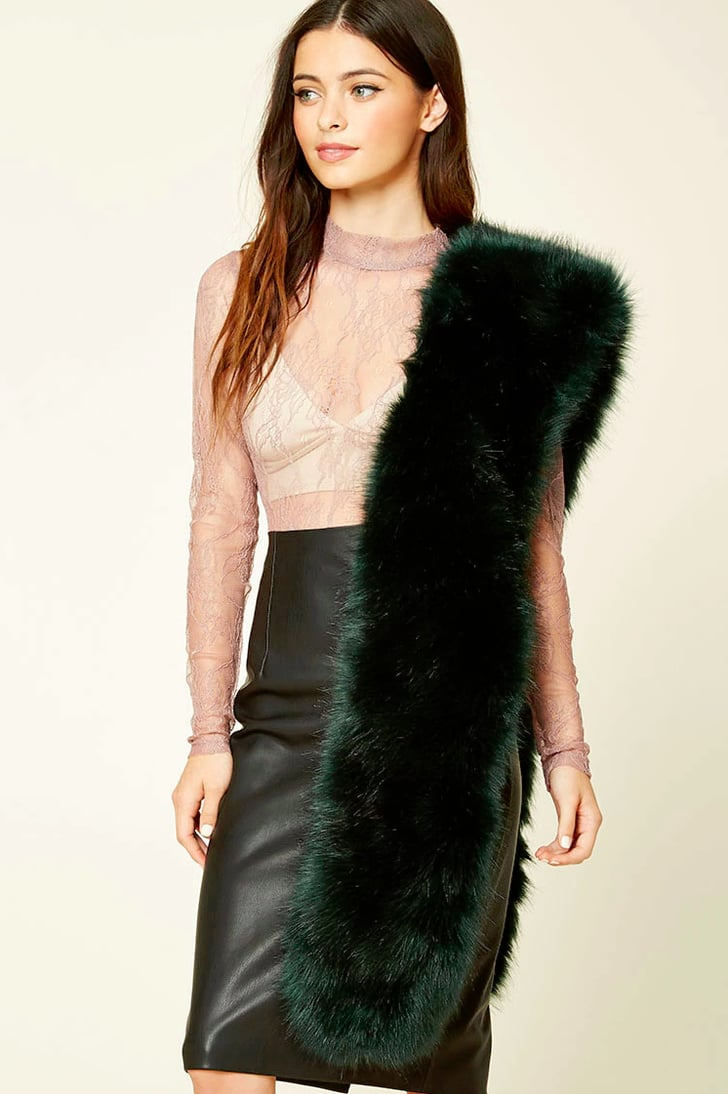 Forever 21 faux fur stole 18 fashion gifts under 50 popsugar fashion photo 24 - Stoel fur ...
