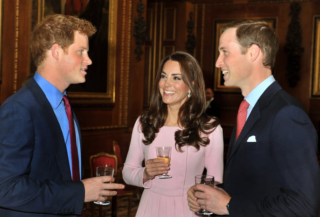 Prince Harry entertained his brother and sister-in-law during an official event in Windsor, England, in May 2012.