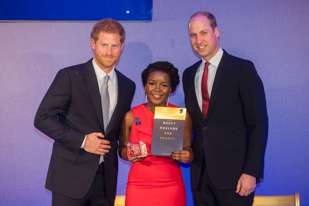 Prince William and Prince Harry presented the Diana Award Charity's Inaugural Legacy Award.