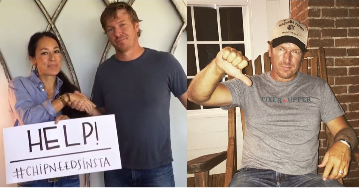 fixer upper 39 s joanna gaines wins instagram bet with husband popsugar home. Black Bedroom Furniture Sets. Home Design Ideas