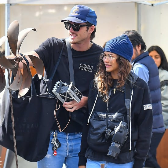 Zendaya and Jacob Elordi Being Cute at a Flea Market in LA
