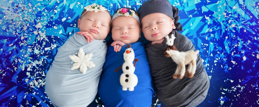 Frozen Newborn Photo Shoot