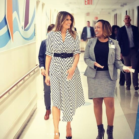 Melania Trump's Adam Lippes Striped Dress