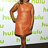 She showed off a Salvador Perez design at the Hulu Upfronts in May 2016.